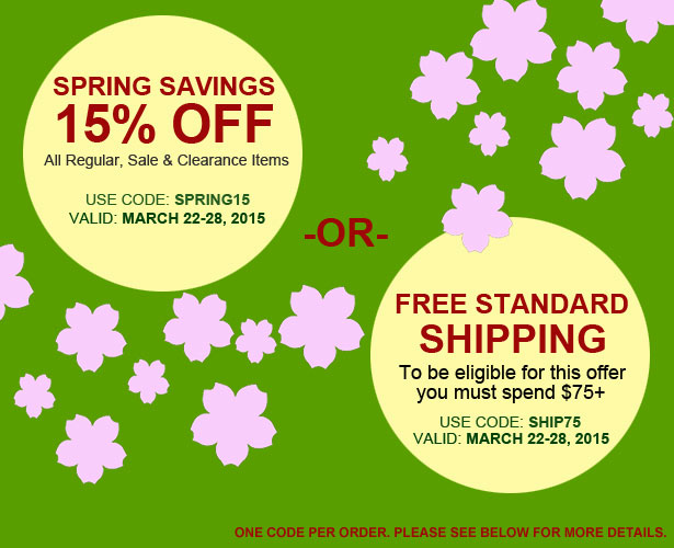 free Standard shipping coupon