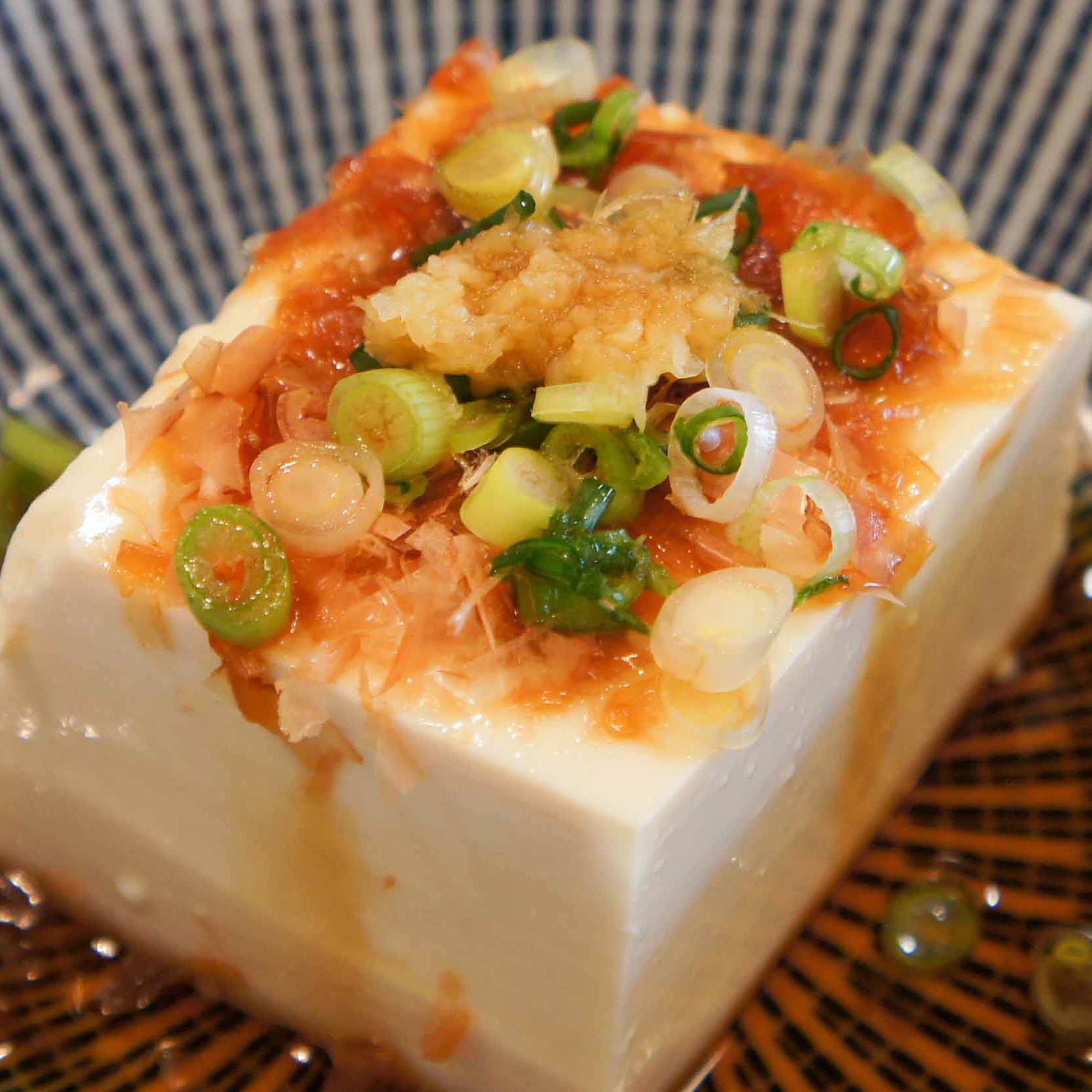 Japanese Chilled Tofu Hiyayakko 冷奴